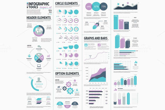 Huge Infographic Vector Elements Set