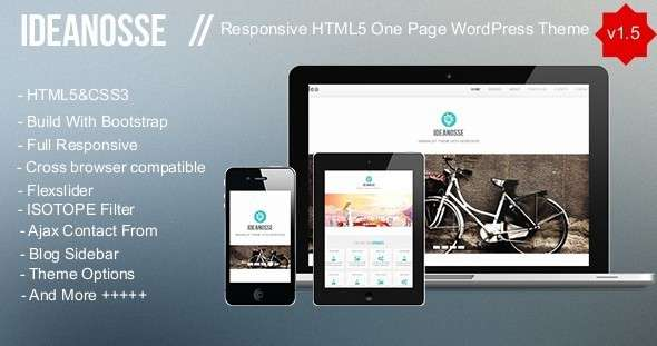 Ideanosse - Responsive One Page WordPress Theme