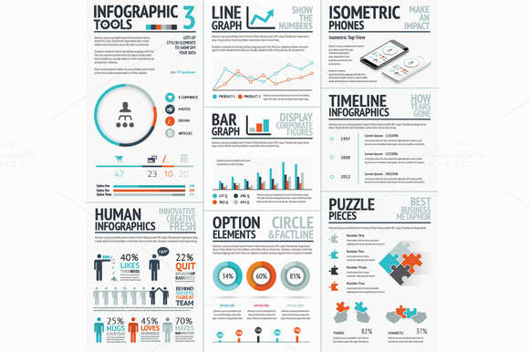 Infographic Tools Set 3 Recolored
