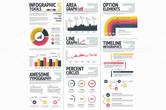 Infographics Tools & Elements Vector