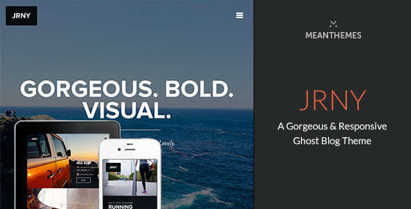 JRNY: A Gorgeous & Responsive Ghost Blog Theme