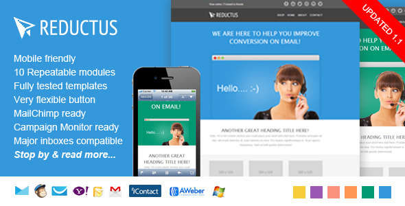 Multipurpose, Responsive E-mail Template - Reductus