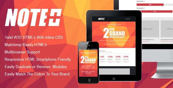 NOTE - Responsive Email Newsletter Template