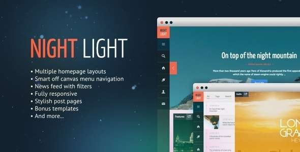 NightLight - Responsive, Multi-Purpose Ghost Theme