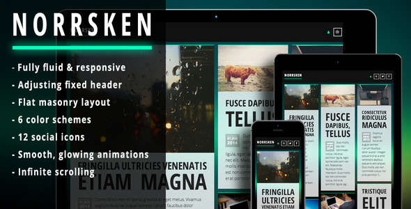 Norrsken - Clean & responsive Ghost theme