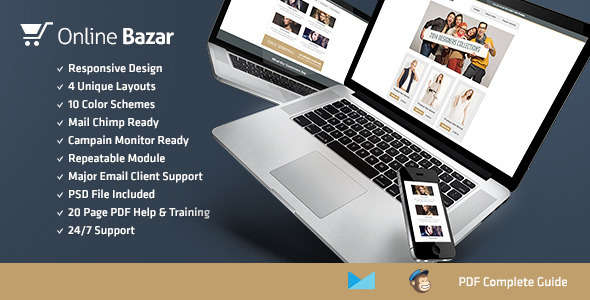 Online Bazar – Responsive E-mail Template