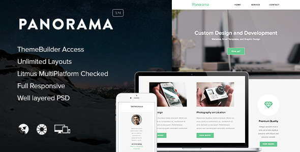 Panorama - Responsive Email + Themebuilder Access
