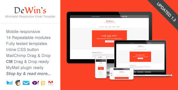 Professional Responsive Email Template - DeWin's