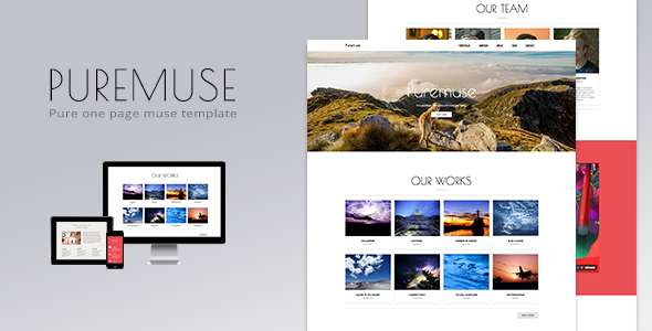 Puremuse - One Page Muse Template