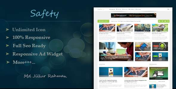 Safety - Responsive MultiPurpose Blogger Template