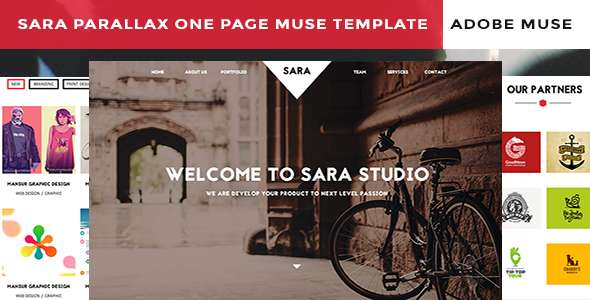 Sara Parallax One Page Muse Templaete