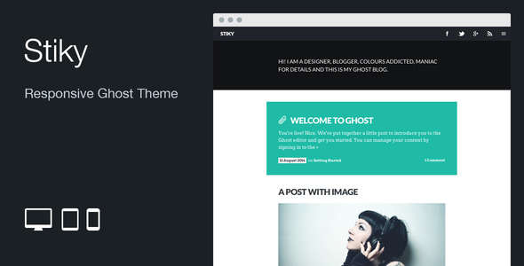 Stiky: Responsive Clean Ghost Theme