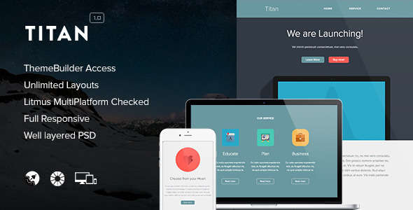 Titan - Responsive Email + Themebuilder Access