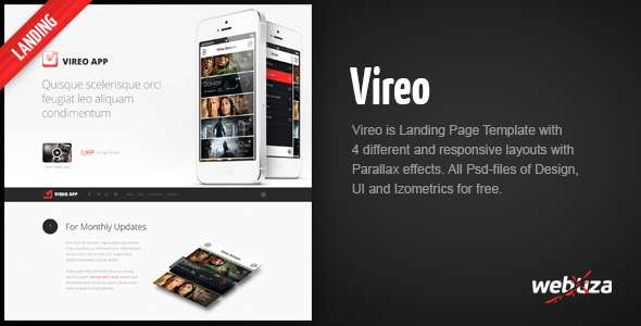 Vireo - Ultra Responsive App Landing Page