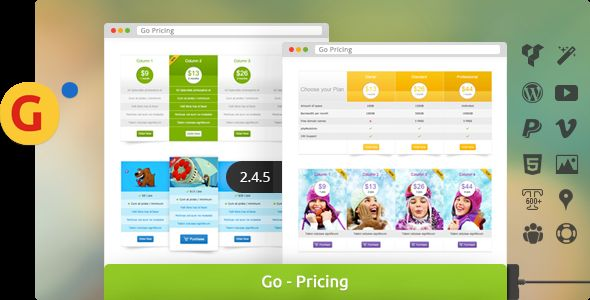 WordPress - Go - Responsive Pricing and Compare Tables for WP