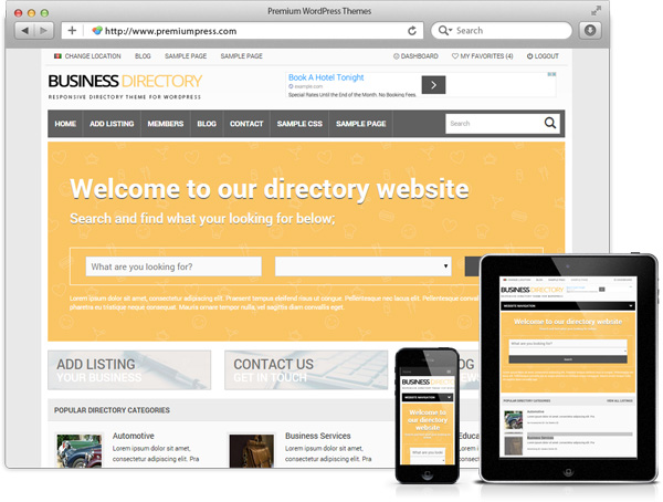 Responsive Business Directory Theme