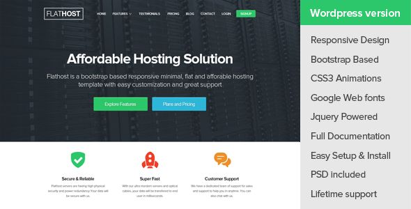The Best WordPress Themes for Webhosting Companies