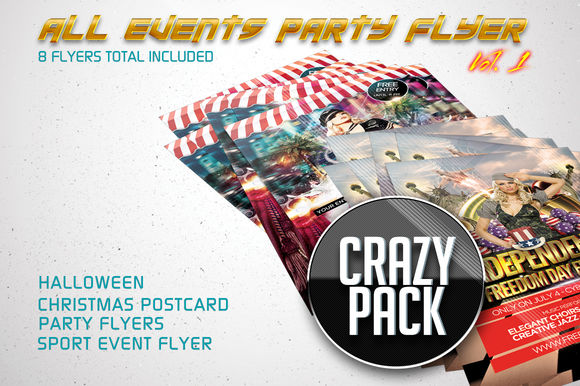All Events Flyer Pack Vol by FlyerKing is available from CreativeMarket for $6.