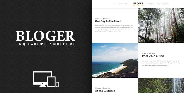 Bloger by DJMiMi is a WordPress theme which features parallax elements, support for RTL languages, one page layouts, fully responsive layouts, Google Fonts support, clean design, Bootstrap framework utilization, is great for your personal site and blogging related layouts and optimizations.