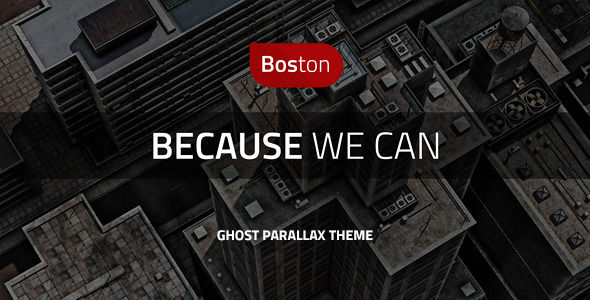 Boston by Createit-pl is a Ghost theme which features parallax elements, one page layouts, fully responsive layouts, clean design, Bootstrap framework utilization, corporate style visuals and  flat design aesthetics.