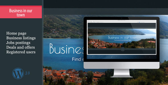 Business In Our Town by Virtuti is a job listing WordPress theme which features is great for your personal site.