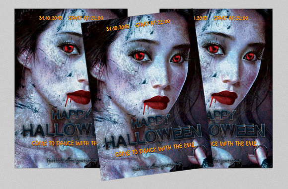 COLDNESS Halloween Flyer by Tzochko is available from CreativeMarket for $6.