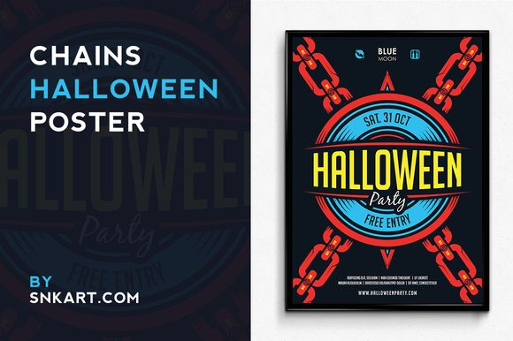 Chains Halloween Poster by SNKs is available from CreativeMarket for $6.