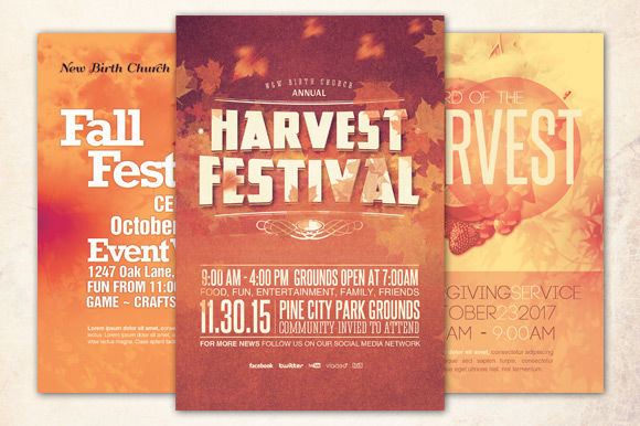 Church Harvest Flyer Bundle by Loswl is available from CreativeMarket for $11.