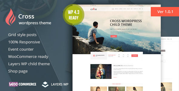 Cross by 0effortthemes is a news magazine WordPress theme with video support which features fully responsive layouts, search engine optimization, WooCommerce integration, clean design, Bootstrap framework utilization, support for photo galleries, can be used for your portfolio, is great for your personal site, corporate style visuals and a grid layout.