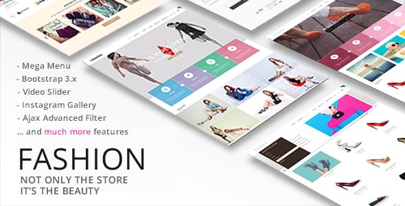 Fashion by Roartheme is a Shopify theme which features support for RTL languages, Mega Menu, fully responsive layouts, search engine optimization, Bootstrap framework utilization, is great for your personal site, a grid layout and  minimal design.