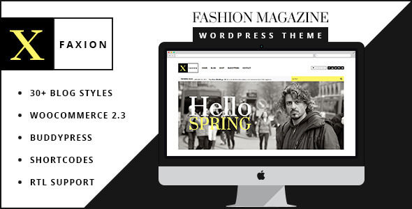 Faxion by Softcircles is a news magazine WordPress theme with video support which features fully responsive layouts, WooCommerce integration, clean design, Bootstrap framework utilization, support for photo galleries, magazine style layouts, is great for your personal site and flat design aesthetics.