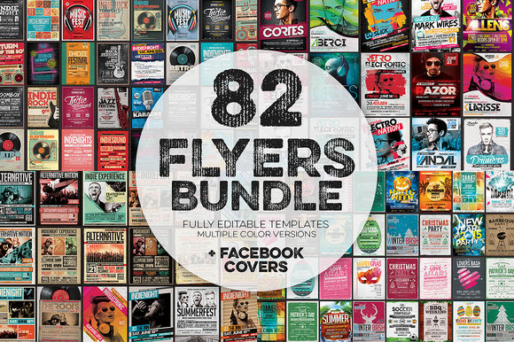 Flyers Bundle by ZeppelinGraphics is available from CreativeMarket for $39.