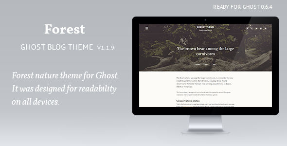 Forest by Tamxaun is a Ghost theme which features Retina display support, support for RTL languages, fully responsive layouts, clean design, flat design aesthetics and  minimal design.
