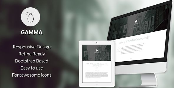 Gamma by Oxygenna is a Ghost theme which features Retina display support, parallax elements, fully responsive layouts, Google Fonts support, clean design, Bootstrap framework utilization, blogging related layouts and optimizations, bold design elements, flat design aesthetics and  minimal design.