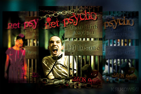 Get Psycho Flyer by Krukowski is available from CreativeMarket for $6.