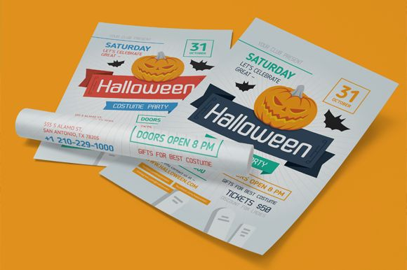 Halloween Costume Party Poster by EverydayTemplate is available from CreativeMarket for $6.