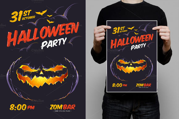 Halloween Design Template by Vecster is available from CreativeMarket for $8.