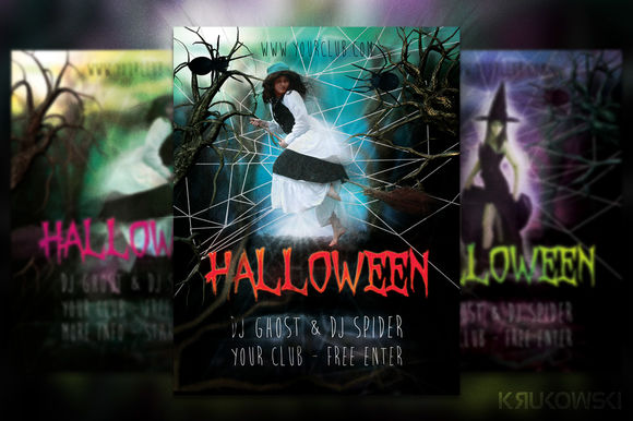 Halloween Flyer by Krukowski is available from CreativeMarket for $6.