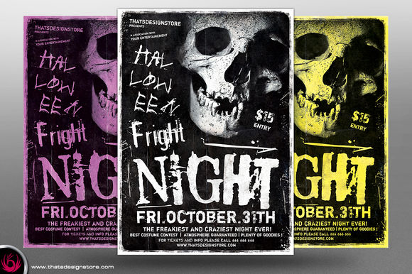 Halloween Flyer Template V by ThatsDesign is available from CreativeMarket for $9.
