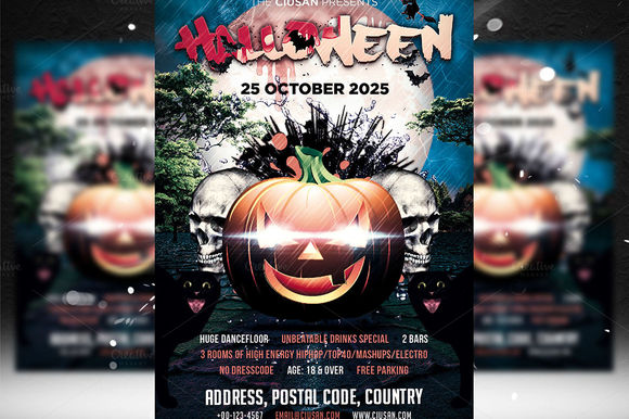 Halloween Flyer Template by Ciusan is available from CreativeMarket for $8.