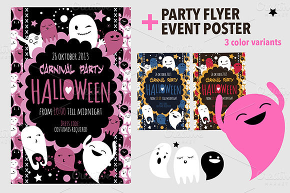 Halloween Flyer And Poster by Darish is available from CreativeMarket for $7.