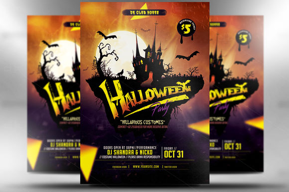 Halloween Flyer by MicroDesigns is available from CreativeMarket for $7.