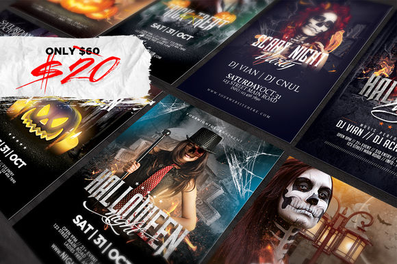 Halloween Flyers Bundle by Angkalimabelas is available from CreativeMarket for $20.