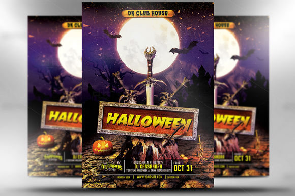 Halloween Flyers by MicroDesigns is available from CreativeMarket for $6.