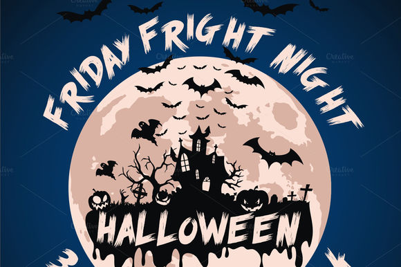 Halloween Friday Fright Night Flyer by Dizaino-paslaugos is available from CreativeMarket for $6.
