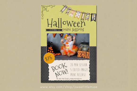 Halloween Mini Session Template by SweetLittleMuse is available from CreativeMarket for $8.
