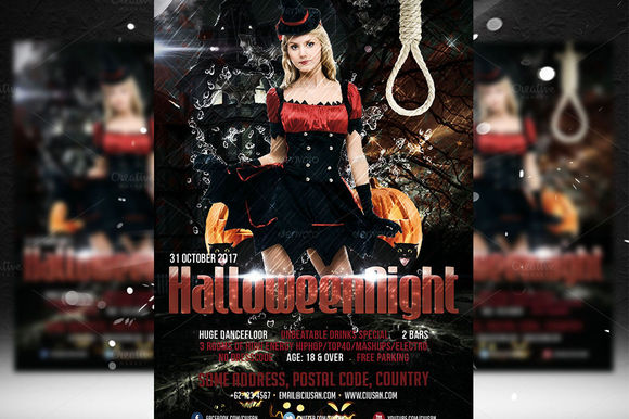 Halloween Night Flyer Template by Ciusan is available from CreativeMarket for $8.