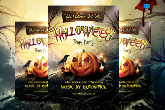 Halloween Party Flyer Template by BriellDesign is available from CreativeMarket for $5.