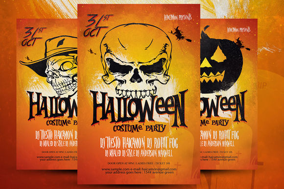 Halloween Party Flyer by Munish_06nk is available from CreativeMarket for $6.