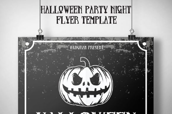 Halloween Party Night Flyer Template by IkazNarsis is available from CreativeMarket for $6.